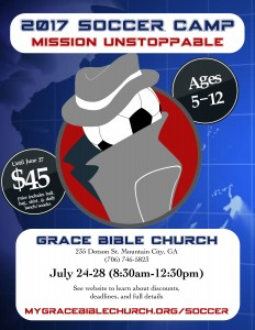 Soccer Camp Flyer - Mission Unstoppable